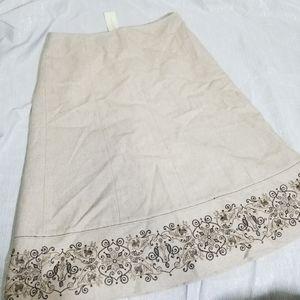 NWT Ann Taylor Recycled Wool Tan Skirt 2